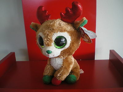 65245a84421 6 6 of 7 Ty Beanie Boos RED ALPINE reindeer 6 inch NWMT. NEW - CHRISTMAS BEANIE  BOO.