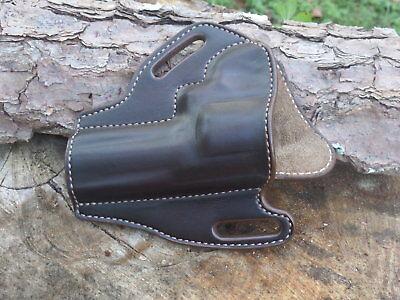 Ruger GP100 CUSTOM HANDMADE LEATHER HOLSTER OWB Dark Brown