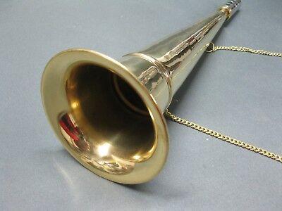 Messing Stethoskop Hörrohr Hearing Pipe Hörmaschine Ear Trumpet 33 cm mit Kette 6