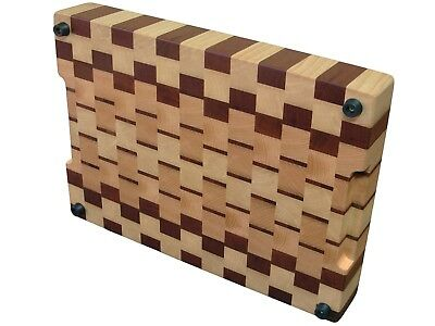 Handmade, Cutting Board End Grain with Feet, Kitchen, Chopping Board, Ash Sapele 3