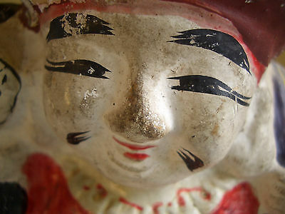 Japan vintage clay doll Mahakala One of the Seven Lucky Gods antique #12104 9