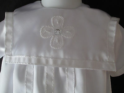 86455ba7e ... Reborn/Baby Girls or Boys Satin Christening Gown Baptism Outfit Size  0-6 Months
