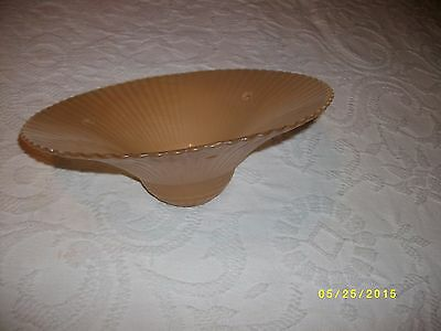 Vintage or antique glass ceiling light fixture shade 3 hole tan rope drape 6