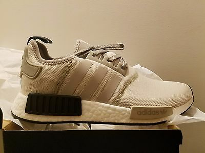 quality design 23eeb 1528b ADIDAS NMD R1 Runner Tan White Cream Black Khaki Mens Shoes S76848 All size
