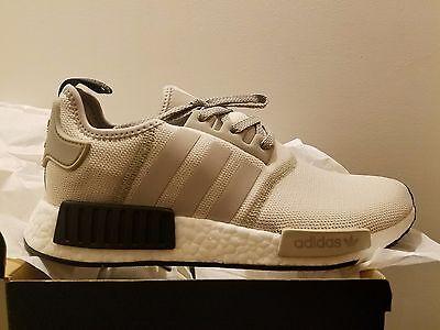 quality design 5c6af d09ef ADIDAS NMD R1 Runner Tan White Cream Black Khaki Mens Shoes S76848 All size