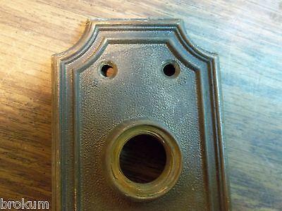 """VINTAGE HEAVY BRONZE DOOR BACK PLATES SARGENT 7"""" X 2-1/2"""" CIRCA 1890's 6"""