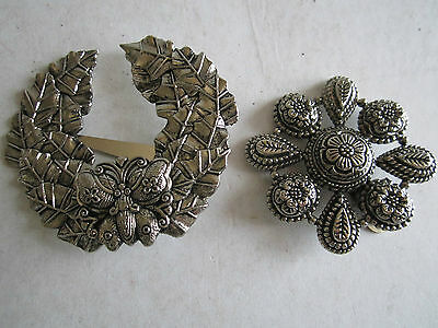 2 Sylvia Dahl Signed Scarf Clip On Brooches - Tk-2