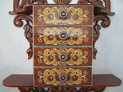 CONSOLE with Jewelry box Schmuckbox 45x32x8 antique Baroque Repro with 4 drawers 5