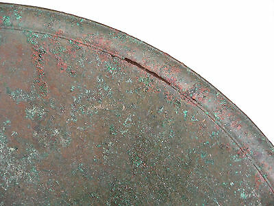 "ANTIQUE BRONZE ROMAN / BYZANTINE / THRACIAN BOWL 16"" in diameter (41 cm) ~LARGE~ 5"
