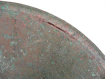"""UNIQUE VERY RARE LARGE ANCIENT BRONZE ROMAN/BYZANTINE/THRACIAN BOWL 16""""  (41 cm) 5"""