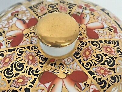 Rare Royal Crown Derby 2451 Or Traditional Imari Condiment Jar - Date Code 1917 6