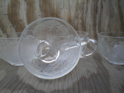 Arcopal France Dishes Aspen Leaf Clear Glass Cups Set Of 4 2