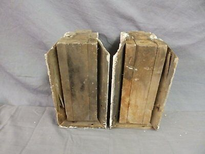 Antique Pair Corbels Wood Small Victorian Architectural Shabby Vtg Chic 517-17P 9