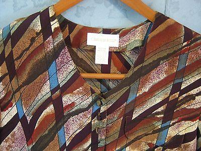 82e5f5f0 ... Vintage VTG 80's Christie & Jill Blouse Size Medium Oversized Shirt  Tunic Top 3