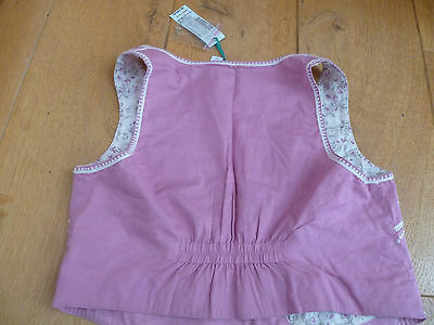Monsoon Polly Pink White Embroidered Beaded Waistcoat 3 4 5 6 7 8 9 10 11 12 13 3