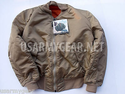 the latest f200d 4baba NEW US MADE MA-1 Alpha Industries US Army Pilot Flight Military Bomber AF  Jacket
