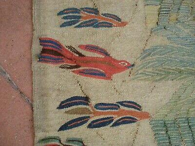 Hand Knotted Vintage Egyptian Kilim Weaving Rug from Ramses Wissa Wassef shops 8