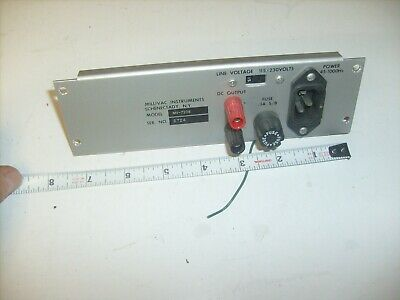 Millivac RF Millivoltmeter MV-723B Back panel with fuse 3