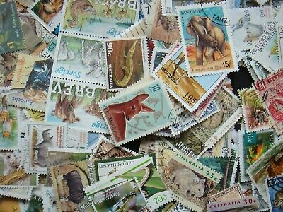 50 ANIMAL Stamps All Different Thematic World Mixed CTO's/Genuine Postage 2