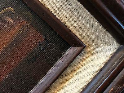 """Vintage Signed & Framed Original Oil on Board Floral in Vase Painting (6"""" X 12"""") 3"""