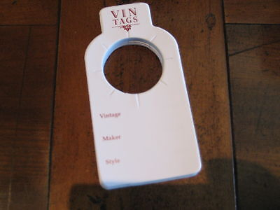 Wine Collection Organisers, Vin Tags - 5 packs of 50 wine bottle tags. 5