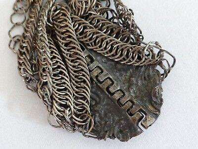 Old Antique Balkan Ottoman Silver Alloy Filigree Bracelet 1800's
