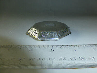 Antique Swiss Engraved Sterling Silver 8 Day 15 Jewel Mechanical Wind Up Clock 10