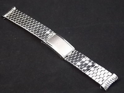 Best Quality Vintage Watch Band Bracelet Mens 18mm Stainles Expansion Deployment 2