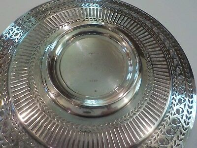"Watson Sterling Silver Reticulated 8"" Sandwich/Dessert Plate / Tray, #4558 5"
