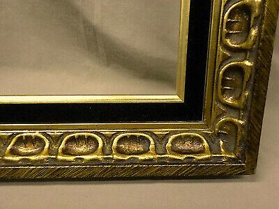"""3212M Vtg 16x20 ORNATE Frame Gold/BLACK VELVET 2 3/4"""" Border EXC COND !! 5"""