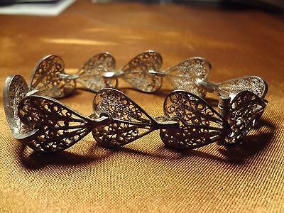 Ottoman Greek Silver Hand Made Filigree Bracelet 6