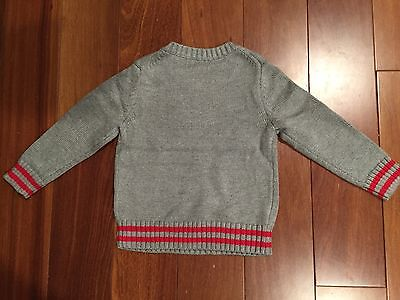 NWT Baby GAP Junk Food Superman Intarsia Sweater Size 4T Fog Grey Red