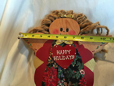 Wooden Yard Folk Art Lawn Or Patio Decorations Bird Houses And  A Holiday Angel 12