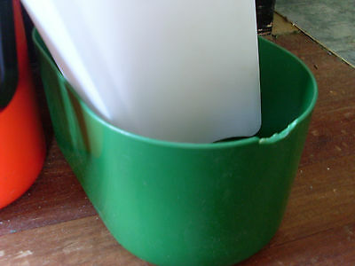 1980s INSULATED DECOR BYO 2 BOTTLE CARRIER * GREEN & RED * XMAS 3