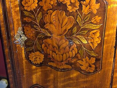 Antique Marquetry English Longcase Grandfather Clock 8 Day Museum Quality 5