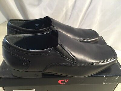Black Leather Shoes UK Size 4 Width G Start-rite Rhino Boys Tyler Loafers
