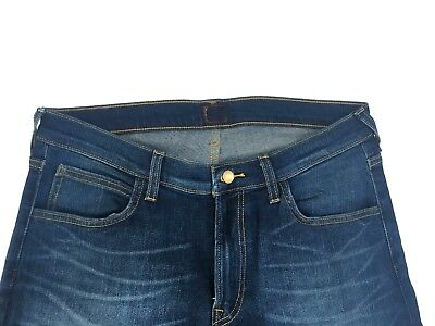Mens Lee Rider Slim/Skinny Leg Stretch Jeans (SECONDS) 'Tinted Blue' RRP£90 L166 7