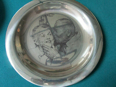 """Sterling 925 PLATES NORMAN ROCKWELL CHRISTMAS FRANKLIN MINT 8"""" -1971/75 - PICK 1 10"""