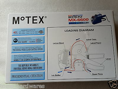 GENUINE MOTEX MX-6600/MX6600 Price gun (with Hologram) 2LINES- Made In KOREA 8