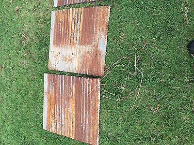 "12 pieces of Vintage Metal CORRUGATED TIN 26"" x 24"" 4"