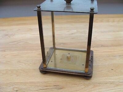 Antique Brass Four Glass Clock Case For Restoration