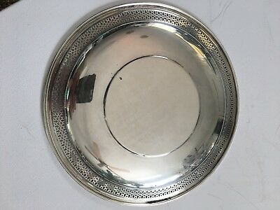"""LUNT Sterling Silver Charger, SP-2, 9 1/2"""" 212g pierced rim 2"""