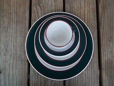 Nancy Calhoun Fusions Evergreen Raspberry Set Dinner Salad Plate Coffee Cup 4 PC 2