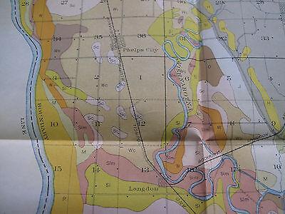 Color Soil Survey Map Atchison County Minnesota Tarkio Rock Port Fairfax 1909 5