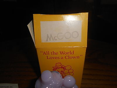 McGOO Mosser Clown Collectible Figurine With Box