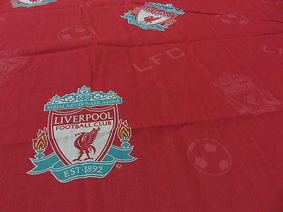 Liverpool football club emblems red white craft remnant fabric piece 145x110cm