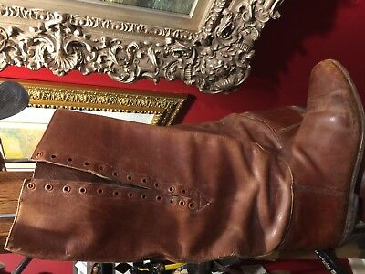 Wwi Wwii Us Cavalry Officer Shaft Lace Riding Boots Excellent Condition Size 10 5