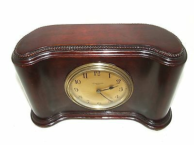 Antique Mahogany Bracket Mantel Clock : H. LEE & SONS HULL (a76) 4