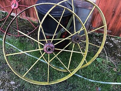 Antique Farm Impliment Wheels For Gates Etc 5