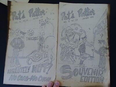 RARE 12 Magazine Newspaper Archive  Pat's Patter Korean War USAT MM Patrick 1951 12